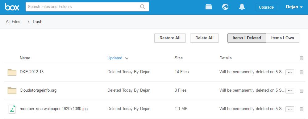 Box Cloud Storage Review File Retrieving