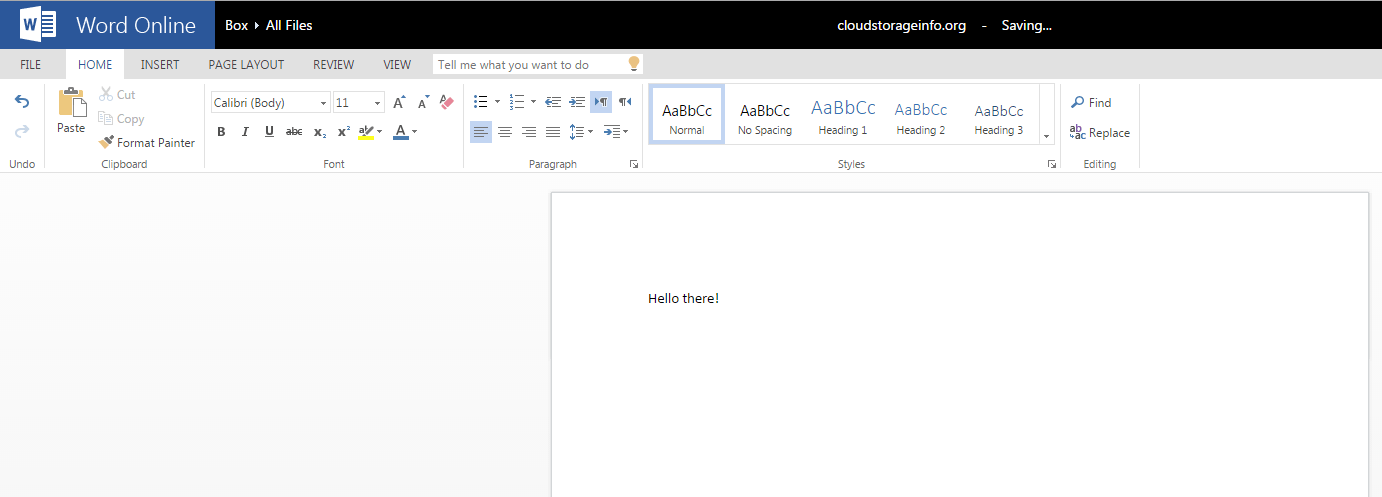 Box word feature