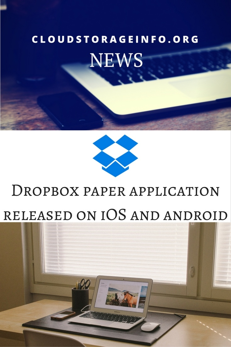 DropBox Paper Application Released