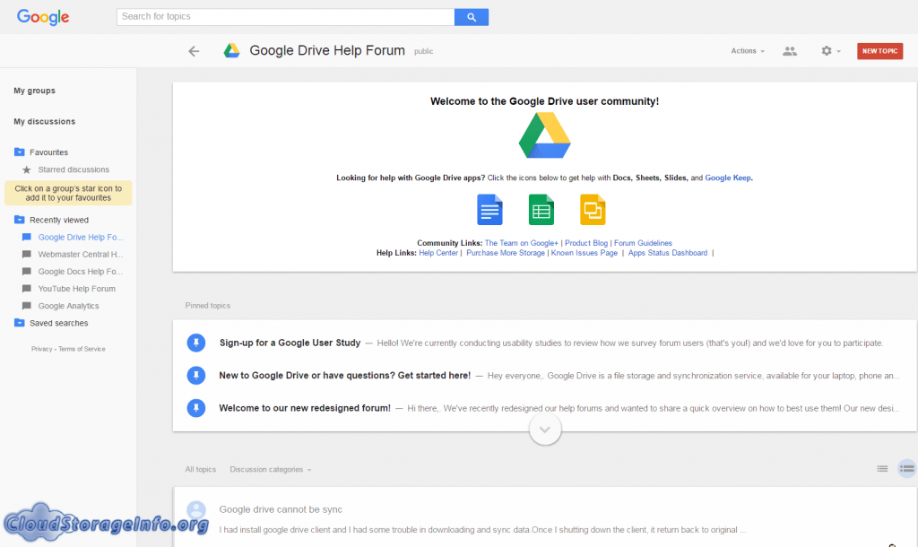 Google Drive Review Forums
