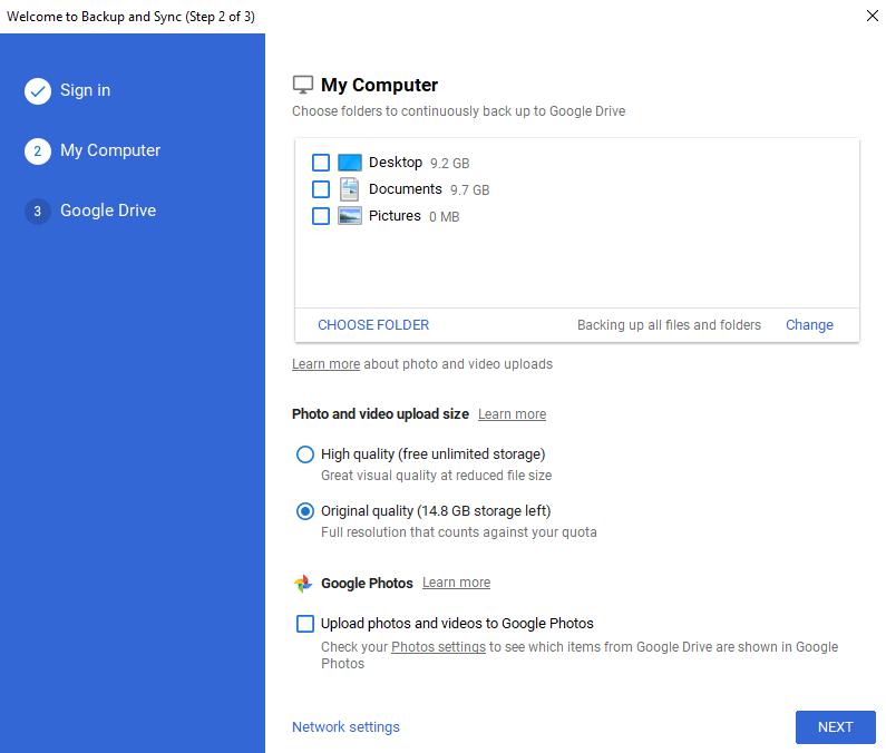 Google Drive Review Backup Folders