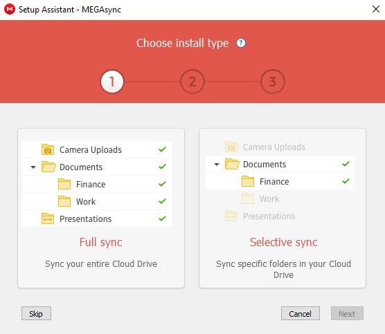 Mega Cloud Storage Review Selective Sync