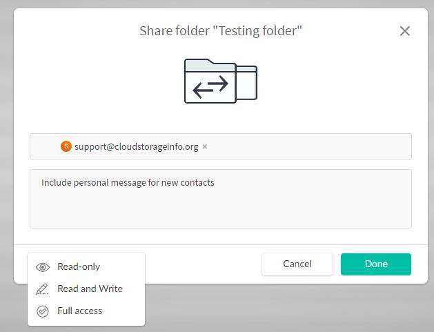 Mega Cloud Storage Review Share Folder