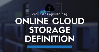 Online Cloud Storage Definition