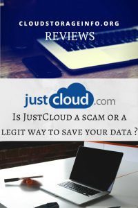 Is JustCloud a scam or legit way to save your data ?