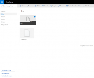 onedrive-interface