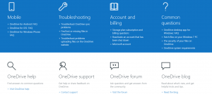 OneDrive Support