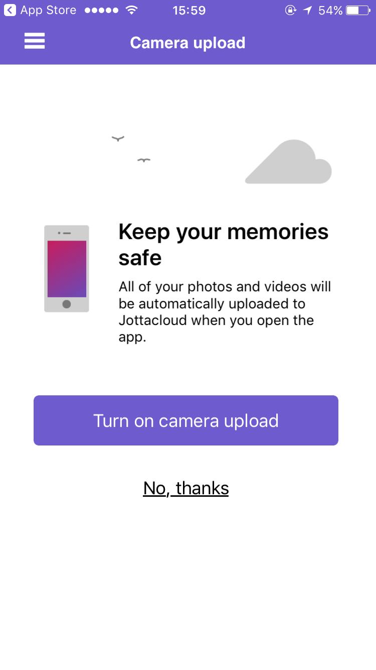 JottaCloud app