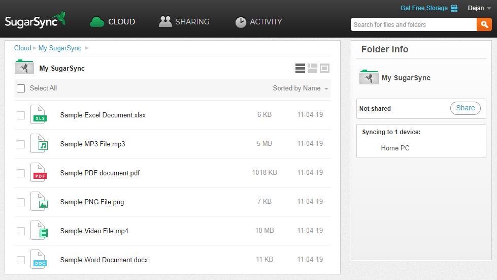 SugarSync Review Interface