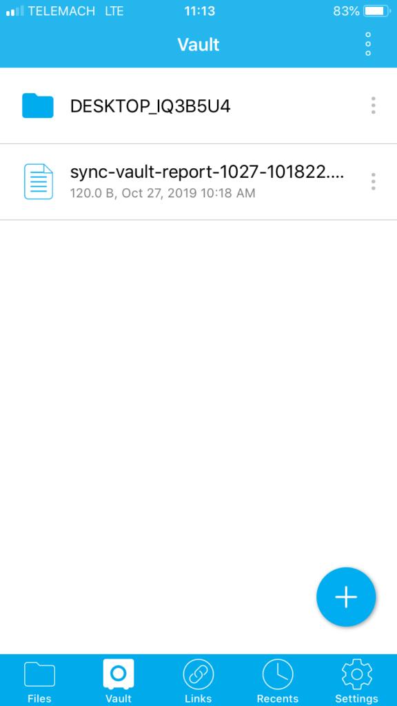 Sync.com Review application vault