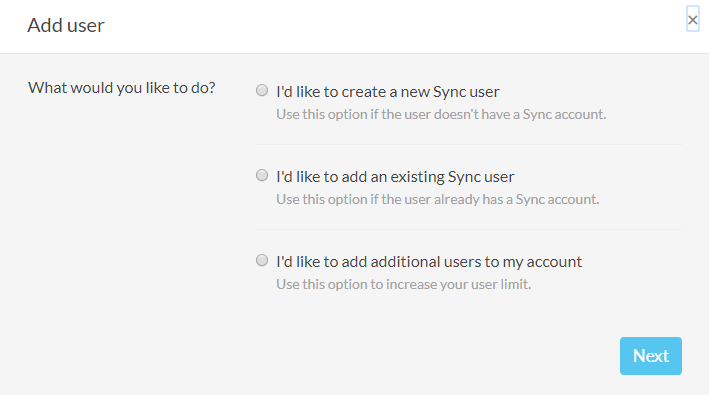 Sync.com Business Review Add Users