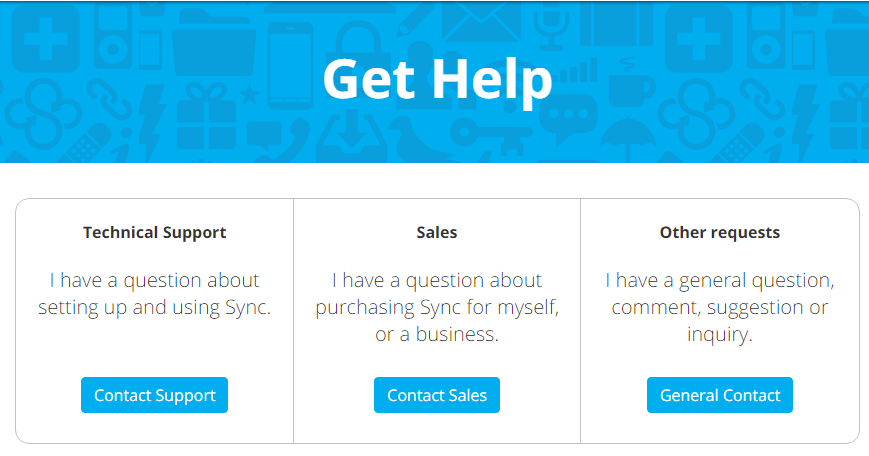 Sync.com Business Support