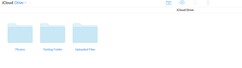 iCloud Drive Interface