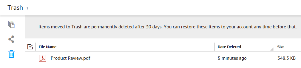 Amazon Cloud Drive Review Trash