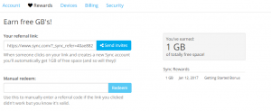 How To Get Free Cloud Storage With Sync.com2
