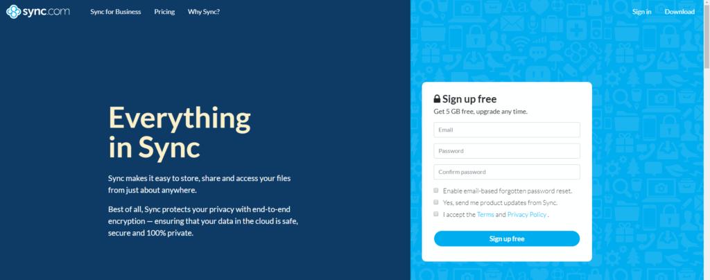 How To Use Sync.com Free Registration
