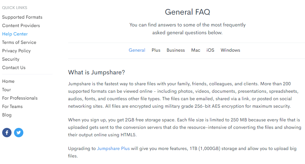 JumpShare Review FAQ