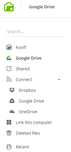 Koofr Review Connect With Google Drive