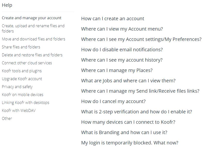Koofr Review FAQ Base