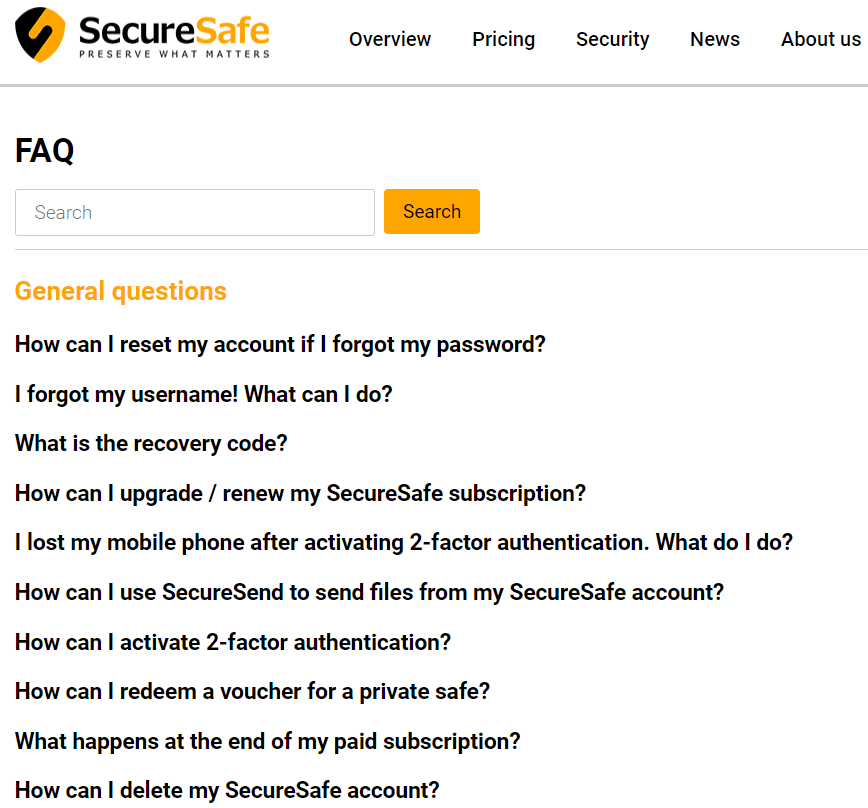 SecureSafe Review FAQ