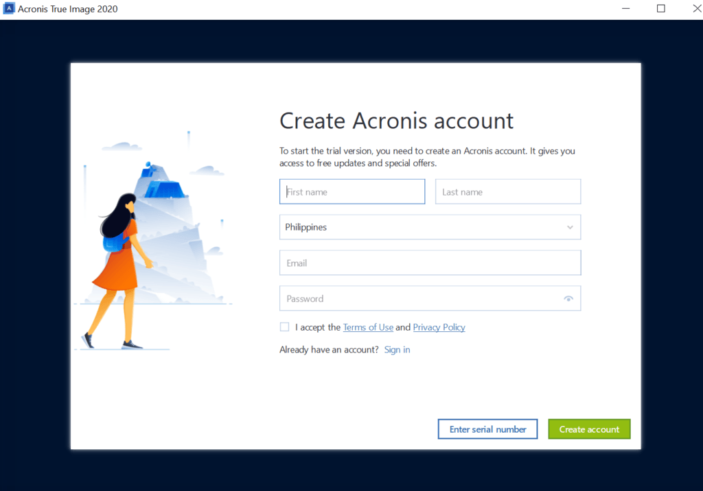 Acronis True Image Review - Registration