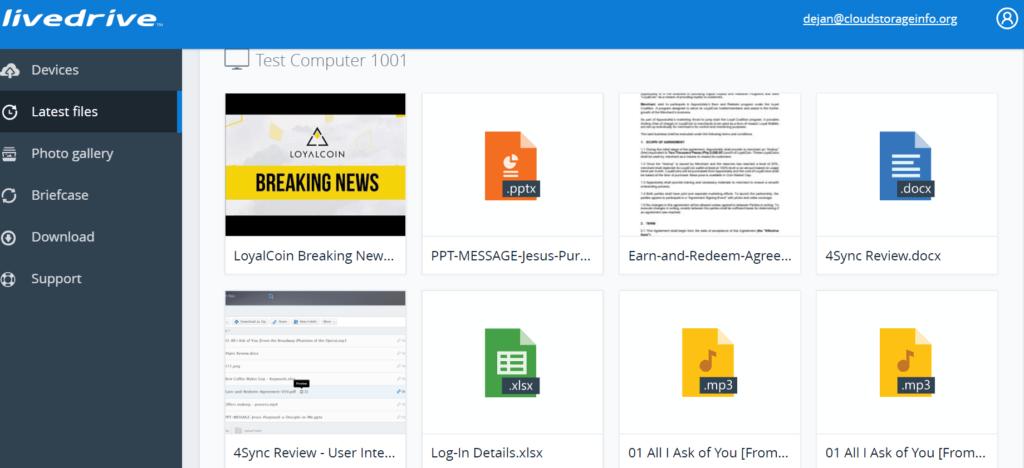 Livedrive Review - File Previews