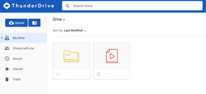 ThunderDrive Review User Interface