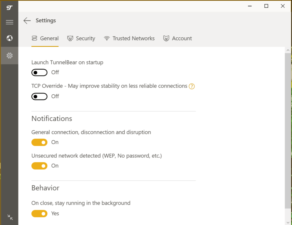 TunnelBear VPN Review - Ease of use 000000005