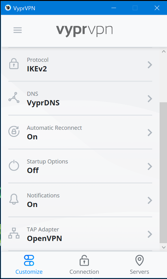 VyprVPN Review - Ease of Use 000789